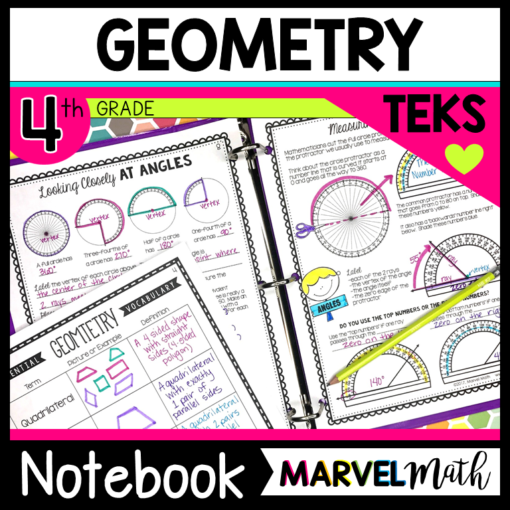 4th Grade Geometry TEKS Interactive Notebook