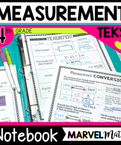 4th Grade Measurement TEKS Interactive Notebook