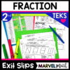 2nd Grade Fraction Exit Tickets for the TEKS
