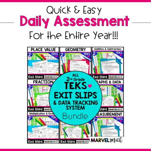 2nd Grade Math TEKS Exit Tickets