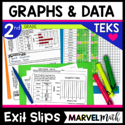 2nd Grade Bar Graph Exit Tickets for the TEKS. These Exit Slips cover all of the Data Analysis TEKS!