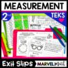 2nd Grade Measurement Exit Tickets for the TEKS