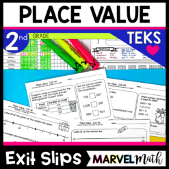 2nd Grade Place Value Exit Tickets for the TEKS