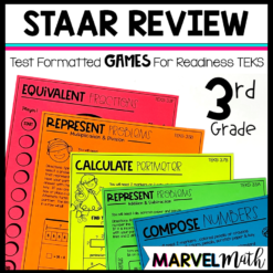 STAAR Review Games 3rd Grade Math