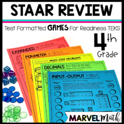 STAAR Math Review Games 4th Grade