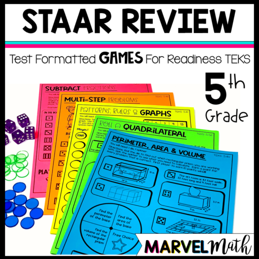 STAAR Math Review Games 5th Grade