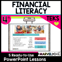4th Grade Personal Financial Literacy Lessons for the TEKS: 4.10A, 4.10B, 4.10C, 4.10D, 4.10E