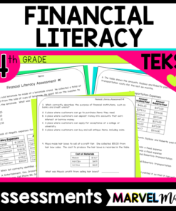 Personal Financial Literacy Tests for the 4th Grade TEKS