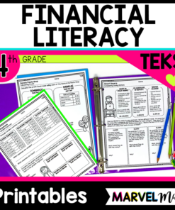 4th grade Financial LIteracy Worksheets for the TEKS
