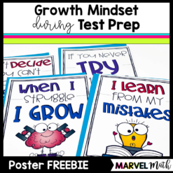 Growth Mindset Posters for Test Prep