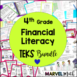 4th Grade Personal Financial Literacy TEKS Unit & Bundle