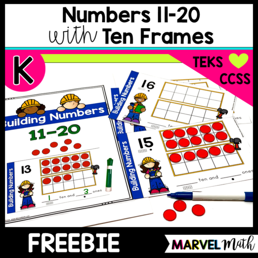 Numbers 11-20 Kinder Math Centers
