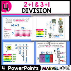 Division PowerPoints: Long Division, Division with Arrays, Division with the Area Model