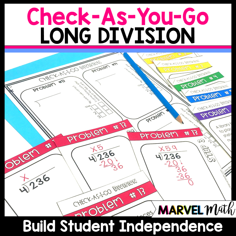 Check As You Go Long Division Word Problems - Marvel Math ...