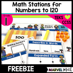 1st Grade Place Value Math Stations and Centers