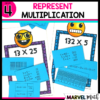 Use this Math Station to practice Multiplication with Arrays, the Area Model, Partial Products and More!