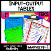 Input Output Tables Math Station Activity for 4th grade TEKS 4.5B