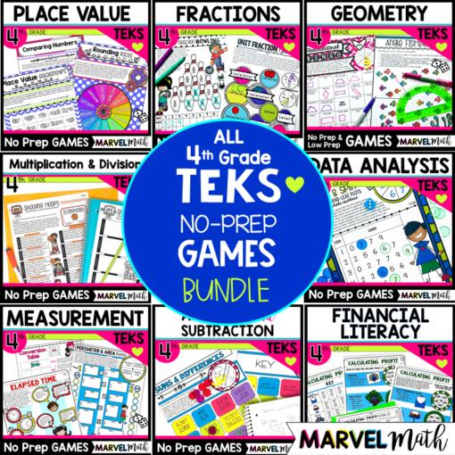 These no prep games are FUN and ENGAGING and your students will love using them at math stations or as part of your STAAR math review.