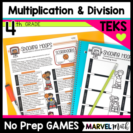 4th Grade Multiplication and Division Games for Math Stations