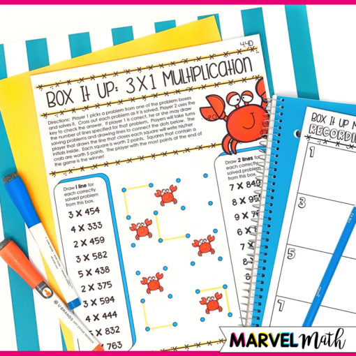 4th Grade TEKS Multiplication and Division Games by Marvel Math