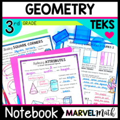 3rd Grade Geometry Notebook for the TEKS