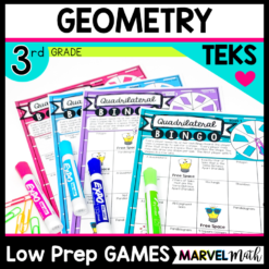3rd Grade Geometry No Prep Games for Math Stations
