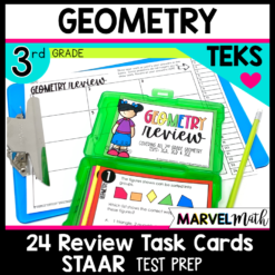 3rd Grade Math STAAR Review Activities for the Geometry TEKS