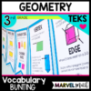 Geometry Vocabulary Illustration of Vertex & Edge for a Math Word Wall