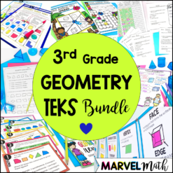 3rd Grade Geometry Unit with FUN Math Stations, Game and Activities for the Texas TEKS
