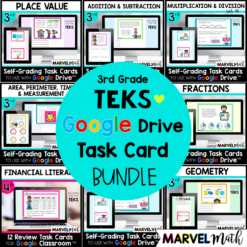 3rd Grade Google Classroom Digital Math Stations TEKS