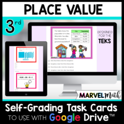 3rd Grade Place Value Digital Math Stations for Google Classroom TEKS