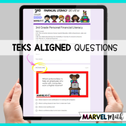 3rd Grade Google Classroom Financial Literacy Review TEKS Self-Grading Task Cards