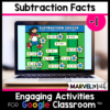 -1 Subtraction Facts Practice for Google Classroom
