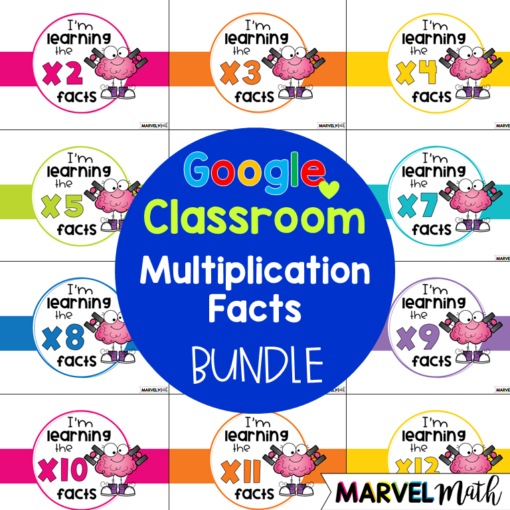 Multiplication Facts Practice for Google Classroom