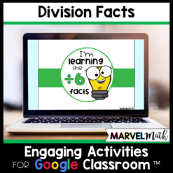 Division Math Facts Practice for Google Classroom