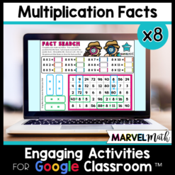 Multiplication Math Facts Practice for Google Classroom