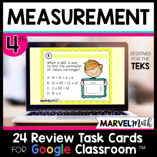 4th Grade Area, Perimeter and Measurement STAAR Review for Google Classroom