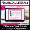 4th Grade Financial Literacy STAAR Review for Google Classroom