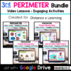 3rd Grade Perimeter Distance Learning for Google Classroom