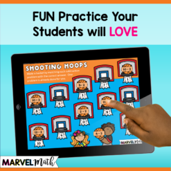 Subtraction Math Facts Practice for Google Classroom