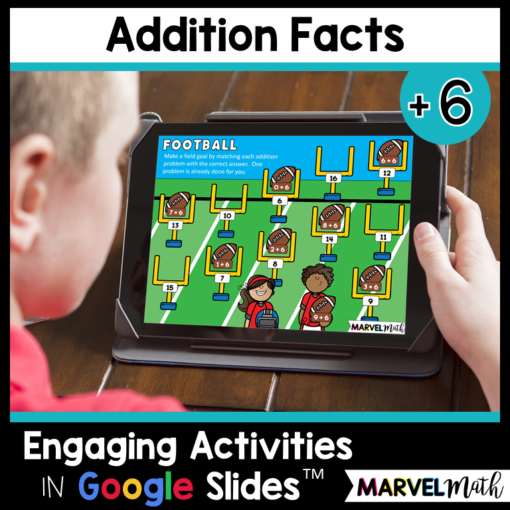 +6 Addition Facts Practice