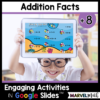 +8 Addition Math Facts Practice