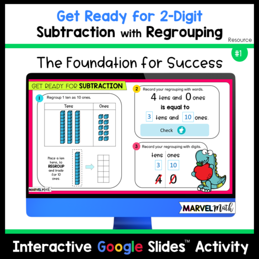 Get Ready for Subtraction with Regrouping Resource