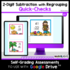 2-digit Subtraction with Regrouping Exit Tickets - Google Forms