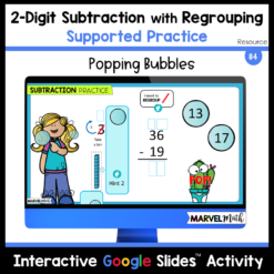 2-Digit Subtraction with Regrouping Practice