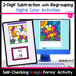 Color By Code 2-Digit Subtraction with Regrouping Practice