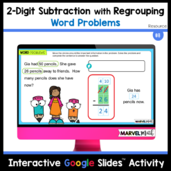2-digit Subtraction with Regrouping Word Problems for TEKS 2.4B 2.NBT.B.5