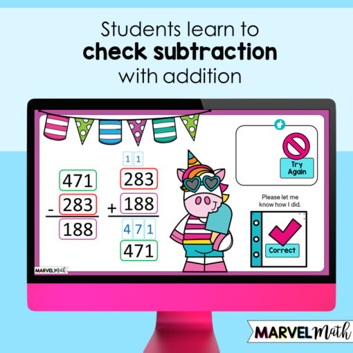 How to Check Subtraction with Addition
