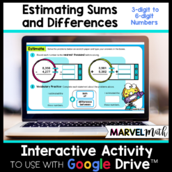 Estimating Sums and Differences - Rounding up to 6-digit numbers