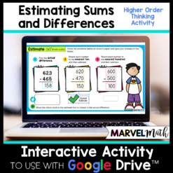 Estimating Sums and Differences - Rounding to the Nearest ten or hundred